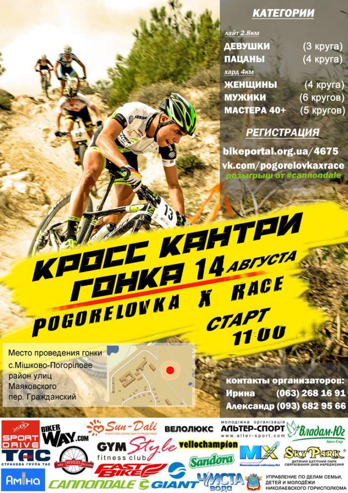 официальная программа велогонки кросс-кантри в Николаеве (Мешково-Погорелово), 14 августа 2016 года